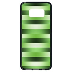Pinstripes Green Shapes Shades Samsung Galaxy S8 Black Seamless Case