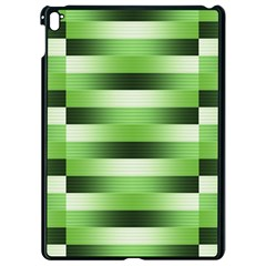 Pinstripes Green Shapes Shades Apple Ipad Pro 9 7   Black Seamless Case