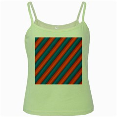 Diagonal Stripes Striped Lines Green Spaghetti Tank by Nexatart