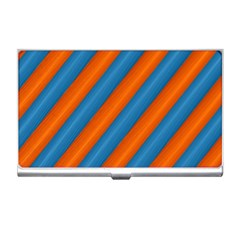Diagonal Stripes Striped Lines Business Card Holders by Nexatart