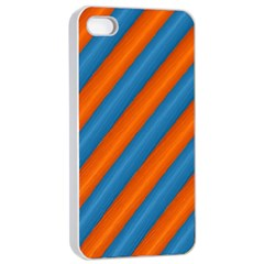 Diagonal Stripes Striped Lines Apple Iphone 4/4s Seamless Case (white)