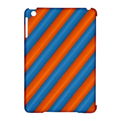 Diagonal Stripes Striped Lines Apple Ipad Mini Hardshell Case (compatible With Smart Cover) by Nexatart