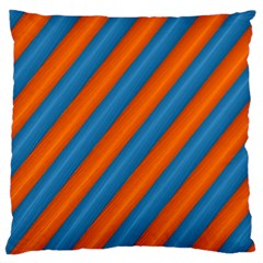 Diagonal Stripes Striped Lines Standard Flano Cushion Case (one Side)