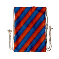 Diagonal Stripes Striped Lines Drawstring Bag (small)