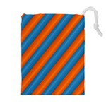 Diagonal Stripes Striped Lines Drawstring Pouches (Extra Large) Front