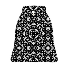 Black And White Geometric Pattern Bell Ornament (two Sides) by dflcprints