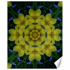 Fantasy Plumeria Decorative Real And Mandala Canvas 16  X 20   by pepitasart