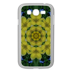 Fantasy Plumeria Decorative Real And Mandala Samsung Galaxy Grand Duos I9082 Case (white) by pepitasart