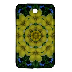 Fantasy Plumeria Decorative Real And Mandala Samsung Galaxy Tab 3 (7 ) P3200 Hardshell Case  by pepitasart