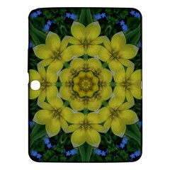 Fantasy Plumeria Decorative Real And Mandala Samsung Galaxy Tab 3 (10 1 ) P5200 Hardshell Case  by pepitasart