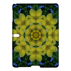 Fantasy Plumeria Decorative Real And Mandala Samsung Galaxy Tab S (10 5 ) Hardshell Case  by pepitasart