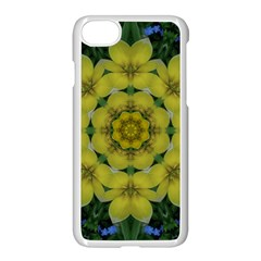 Fantasy Plumeria Decorative Real And Mandala Apple Iphone 7 Seamless Case (white)