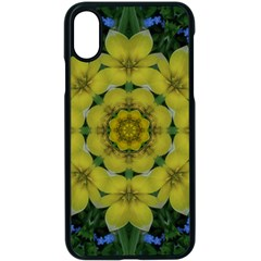 Fantasy Plumeria Decorative Real And Mandala Apple Iphone X Seamless Case (black) by pepitasart