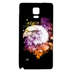 Awesome Eagle With Flowers Galaxy Note 4 Back Case by FantasyWorld7