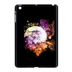 Awesome Eagle With Flowers Apple Ipad Mini Case (black) by FantasyWorld7