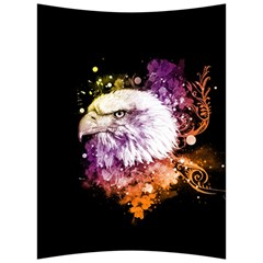 Awesome Eagle With Flowers Back Support Cushion by FantasyWorld7
