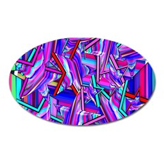 Stars Beveled 3d Abstract Stripes Oval Magnet
