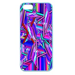 Stars Beveled 3d Abstract Stripes Apple Seamless Iphone 5 Case (color)