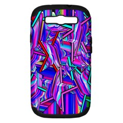 Stars Beveled 3d Abstract Stripes Samsung Galaxy S Iii Hardshell Case (pc+silicone)