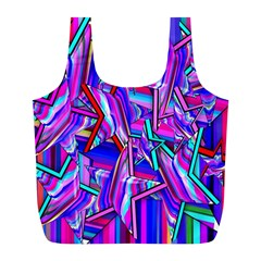 Stars Beveled 3d Abstract Stripes Full Print Recycle Bags (l)