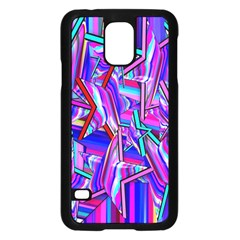 Stars Beveled 3d Abstract Stripes Samsung Galaxy S5 Case (black)