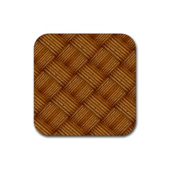 Wood Texture Background Oak Rubber Coaster (square)