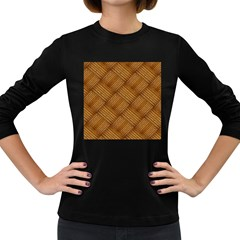 Wood Texture Background Oak Women s Long Sleeve Dark T Shirts