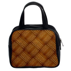 Wood Texture Background Oak Classic Handbags (2 Sides)