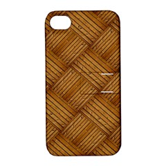 Wood Texture Background Oak Apple Iphone 4/4s Hardshell Case With Stand