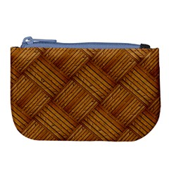 Wood Texture Background Oak Large Coin Purse