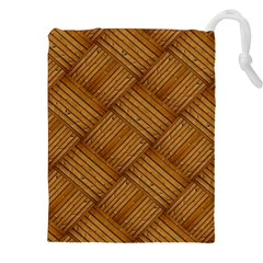 Wood Texture Background Oak Drawstring Pouches (xxl) by Nexatart