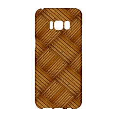 Wood Texture Background Oak Samsung Galaxy S8 Hardshell Case