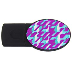 Fabric Textile Texture Purple Aqua Usb Flash Drive Oval (2 Gb) by Nexatart