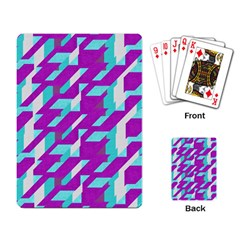 Fabric Textile Texture Purple Aqua Playing Card by Nexatart