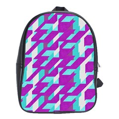 Fabric Textile Texture Purple Aqua School Bag (large)