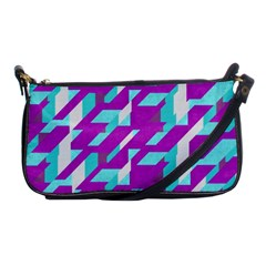 Fabric Textile Texture Purple Aqua Shoulder Clutch Bags