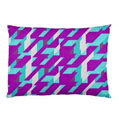 Fabric Textile Texture Purple Aqua Pillow Case (two Sides)