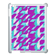 Fabric Textile Texture Purple Aqua Apple Ipad 3/4 Case (white) by Nexatart