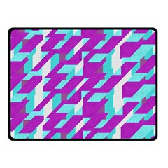 Fabric Textile Texture Purple Aqua Double Sided Fleece Blanket (small)