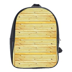 Wood Texture Background Light School Bag (xl)