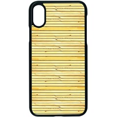 Wood Texture Background Light Apple Iphone X Seamless Case (black)