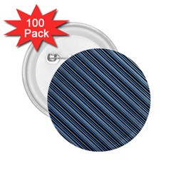 Diagonal Stripes Pinstripes 2 25  Buttons (100 Pack)  by Nexatart