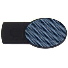 Diagonal Stripes Pinstripes Usb Flash Drive Oval (2 Gb)