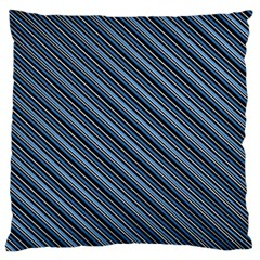 Diagonal Stripes Pinstripes Large Flano Cushion Case (one Side)