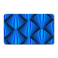 Abstract Waves Motion Psychedelic Magnet (rectangular)