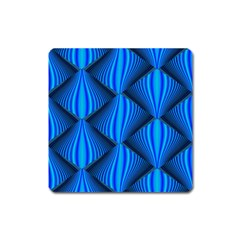 Abstract Waves Motion Psychedelic Square Magnet