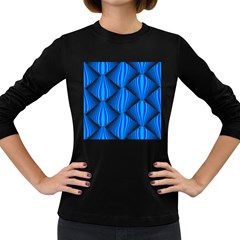 Abstract Waves Motion Psychedelic Women s Long Sleeve Dark T Shirts