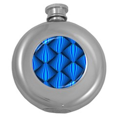 Abstract Waves Motion Psychedelic Round Hip Flask (5 Oz) by Nexatart