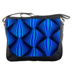 Abstract Waves Motion Psychedelic Messenger Bags by Nexatart