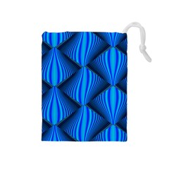 Abstract Waves Motion Psychedelic Drawstring Pouches (medium)